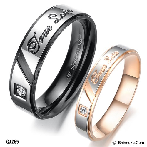 TITANIUM RING Cincin Couple Size 7(F) & 7(M) [GS299] - Gold & Silver - Cincin